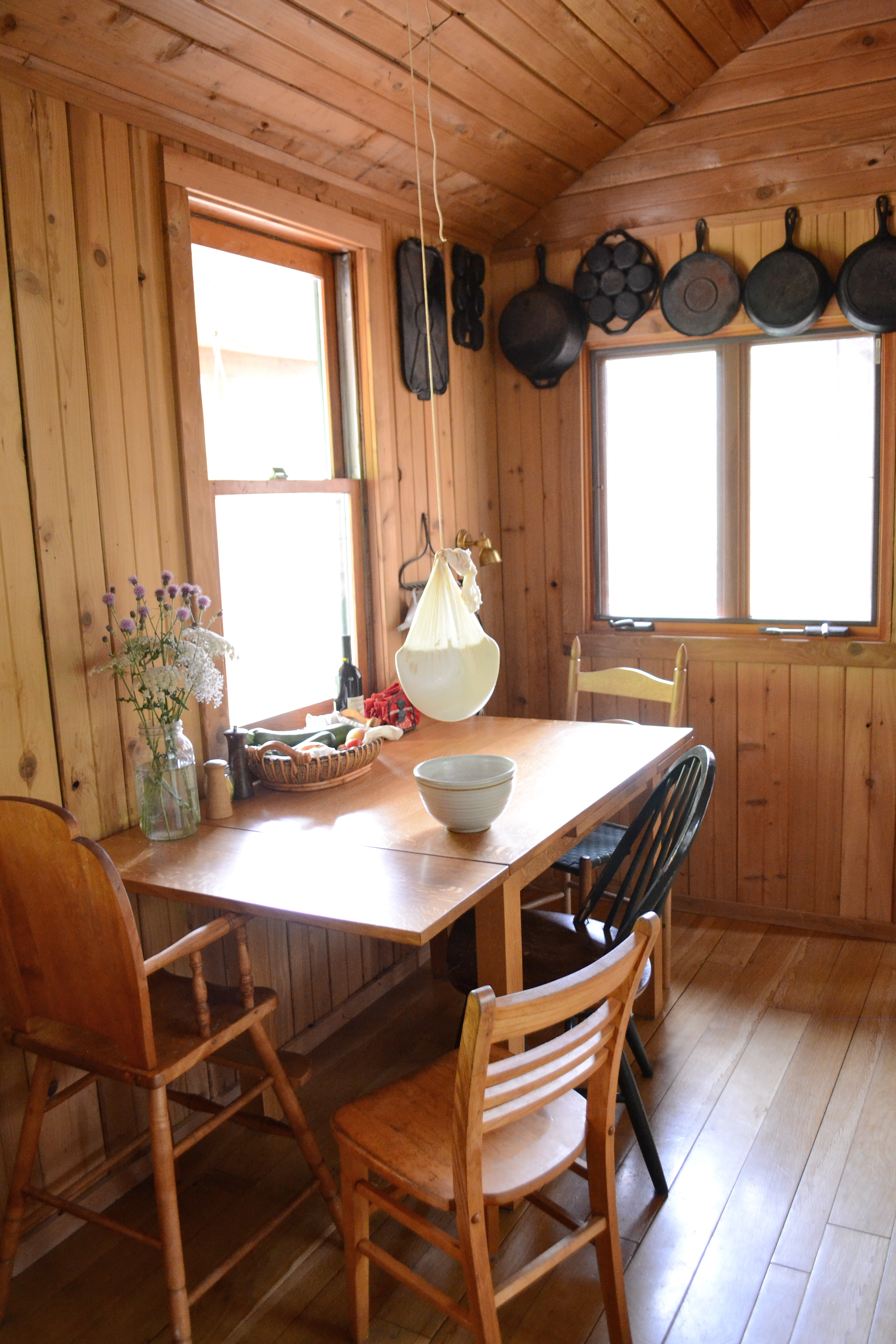 A Tour Of The Cabin Kitchen And Bathroom