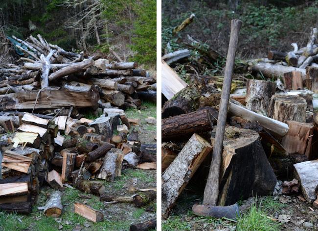 splitting firewood // Wayward Spark