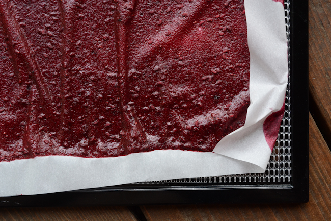 strawberry-boysenberry fruit leather // Wayward Spark