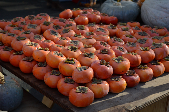persimmons at the Chico Farmers' Market // Wayward Spark