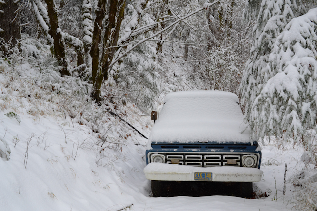old Ford in the snow // Wayward Spark