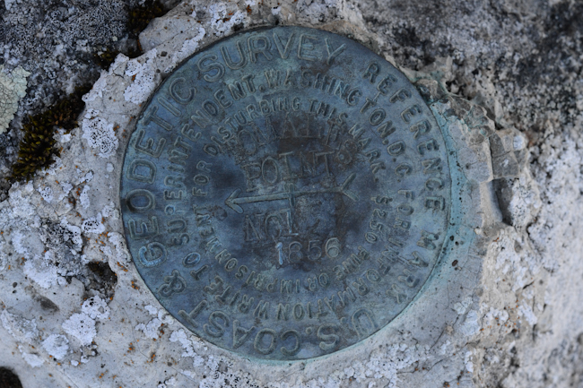 survey marker at Tomales Point // Wayward Spark