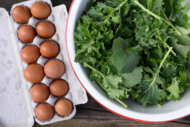 eggs and kale // Wayward Spark