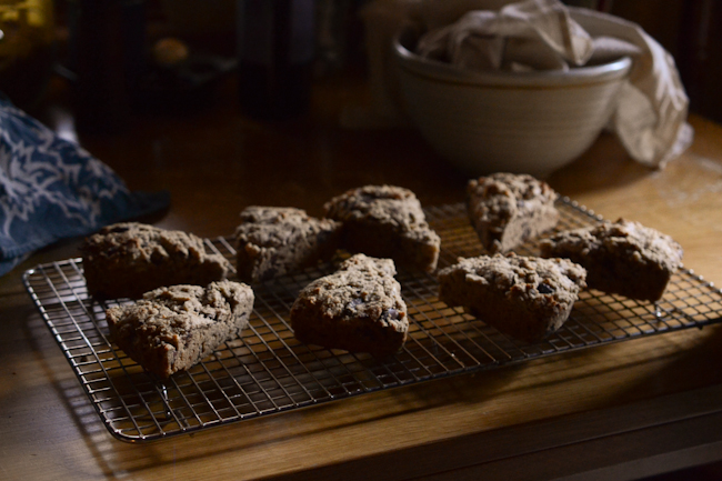 whole wheat chocolate-hazelnut scones // Wayward Spark