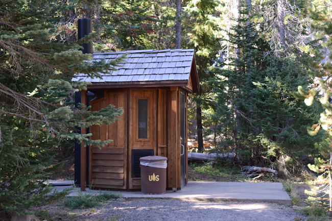 privy at Scott Lake campground in Oregon // Wayward Spark